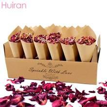 HUIRAN-porte-confettis, décoration rustique, pétales de fleurs séchées, pour mariage, pour fête d'anniversaire, mariage
