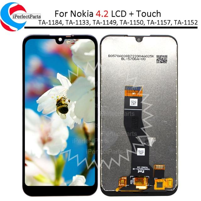 5.71 노키아 4.2 LCD 디스플레이 TA 1184 TA 1133 TA 1149 TA 1150, TA 1157 터치 스크린 디지타이저 어셈블리 노키아 4.2 lcd