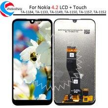 5.71 עבור נוקיה 4.2 LCD תצוגת TA 1184 TA 1133 TA 1149 TA 1150, TA 1157 מסך מגע Digitizer עצרת עבור Nokia 4.2 lcd