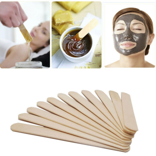100PCS Woman Wooden Body Hair Removal Sticks Wax Waxing Disposable Sticks Beauty Toiletry Kits Wood Tongue Depressor Spatula New