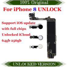 64 Гб оригинальная материнская плата для iphone 8 материнская плата 256 ГБ разблокированная материнская плата для iphone 8 4,7 дюймов с/без Touch ID