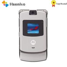 Motorola V3 Refurbished-Original Razr GSM Mobile-Phone 1 One-Year-Warranty 100%Good-Quality