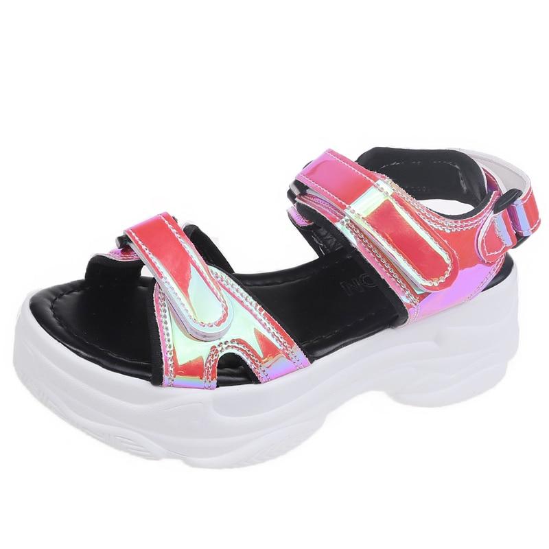 Sexy Open-toed Women Sport Sandals Wedge Hollow Out Women Sandals Outdoor Cool Platform Shoes Women Beach Summer Shoes 2020 New