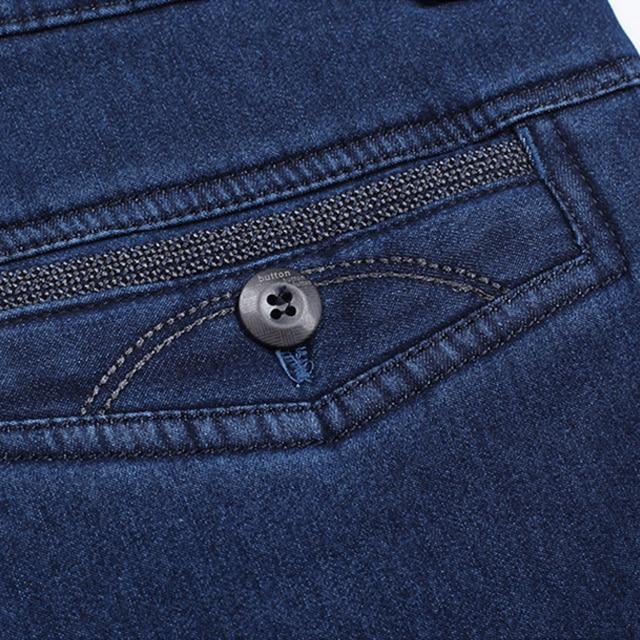 Winter Mens Thick Warm Jeans Classic Fleece Male Denim Pants Cotton Blue Black Quality Long Trousers for Men Brand Jeans Size 42 5