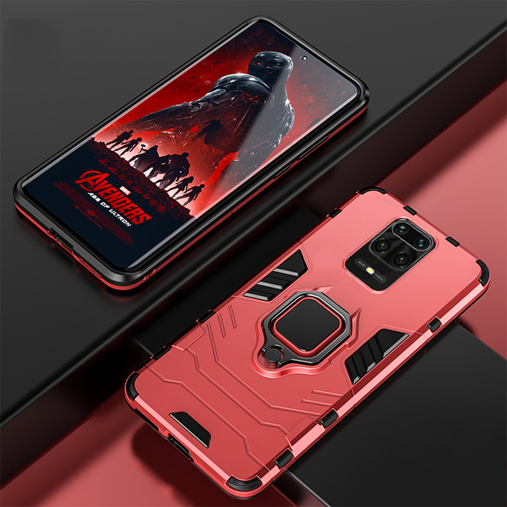 Keajor Phone <font><b>Case</b></font> For Xiaomi Redmi <font><b>Note</b></font> 9S <font><b>9</b></font> S <font><b>case</b></font> TPU+PC Plastic <font><b>With</b></font> <font><b>Ring</b></font> Holder Magnetic Cover for Xiaomi Redmi <font><b>Note</b></font> <font><b>9</b></font> Pro image