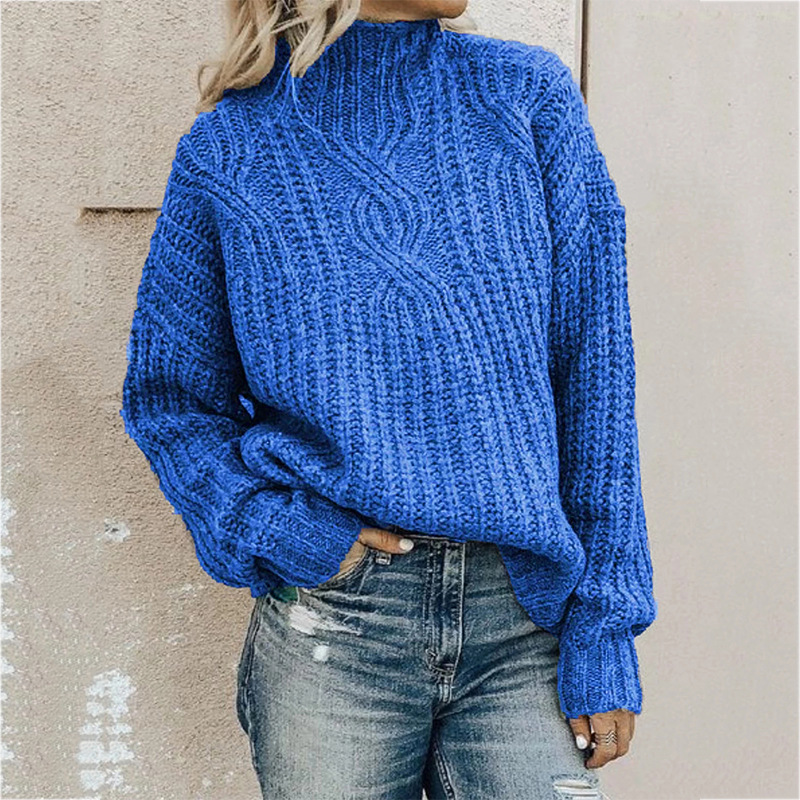 turtleneck twist knit top sweater
