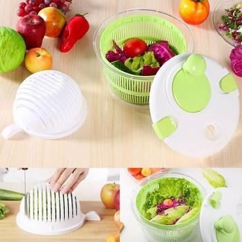 Plastic Salad Vegetable Dehydrator Dryer Salad Washer Food Dryer Dehydrator Spinner Drying Drainer Vegetable Tool Drainer G8I1