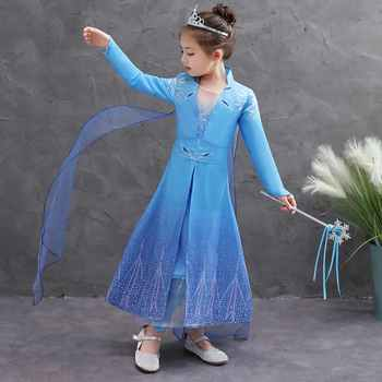 Girls Elsa Dress Costumes for kids Anna Costume Cosplay Dresses Clothes Children Party Dress Vestidos