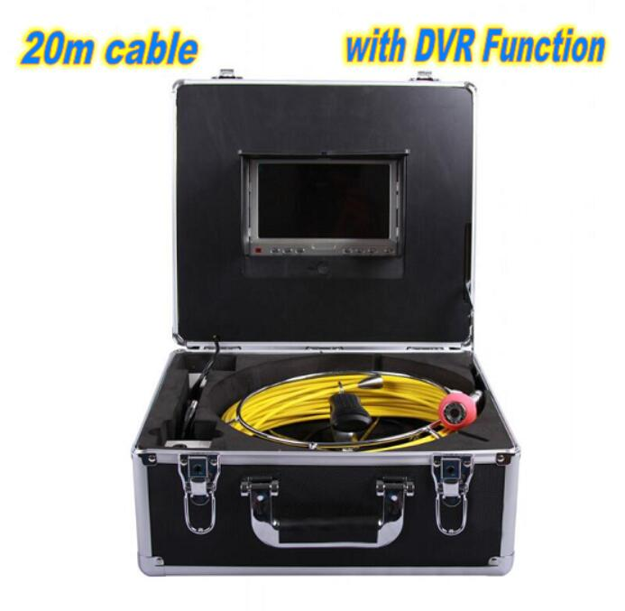 7 LCD 20M/65FT Cable 12Led Underwater Duct Cleaning Tube Pipe Inspection Camera Drain Waterproof Pipe Sewer Camera CMOS 1000TV image
