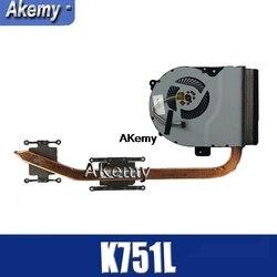 Amazoon dla ASUS K751L K751 K751LK X751LK X751LA X751LD X751LN wentylator procesora chłodzenie Radiator Radiator chłodnicy|Wentylatory i chłodzenie|Komputer i biuro -