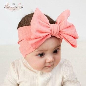 2020 Kid Baby Girl Toddler Cute Bow Headband Hairbands Newborn Accessories Sweet Headwear Head Wrap Solid Headdress