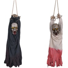 Halloween Decor Hanging Horror Props Devil Electric Ghost Doll Scary Eyes Glowing py Prop Halloween Decoration(China)