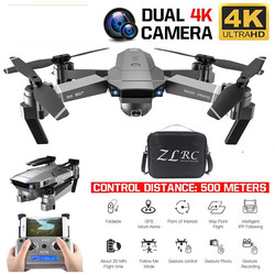 Best Drone GPS With 4K HD Dual Camera Wide Angle Anti-shake WIFI FPV RC Foldable Quadcopter Professional Drones