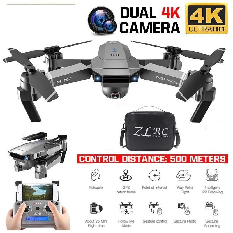 Beste Drone GPS Mit 4K HD Dual Kamera Weitwinkel Anti-schütteln WIFI FPV RC Faltbare Quadcopter Professionelle drohnen