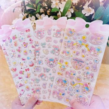 1 Sheet New Golden Foil Melody Twin Star Anime Stickers DIY Stick Label PVC Phone Hand Account Decor Sticker Toys Boy Girl Gift - discount item  29% OFF Classic Toys