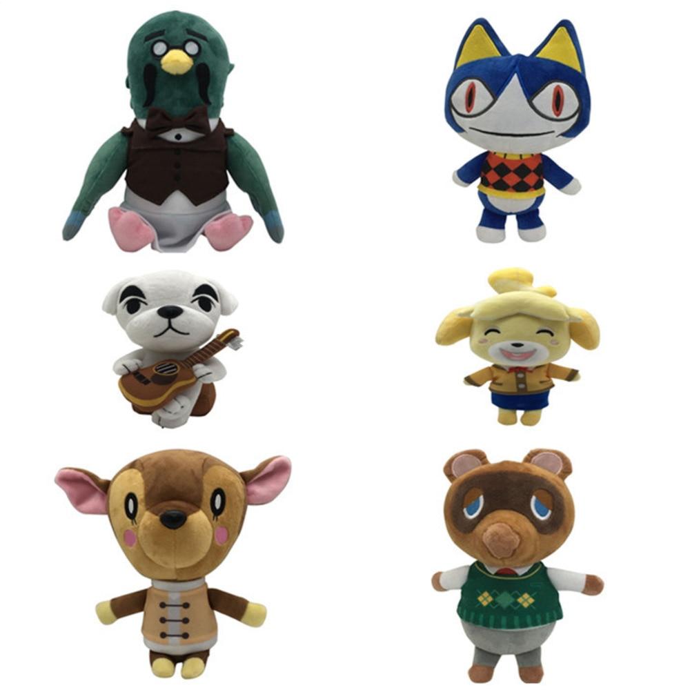 21cm New Cute Raccoon Dog Bear Cat KK Animal Toy Crossing Cartoon Figure Plush Doll Soft Stuffed Toys Children Gift Toys