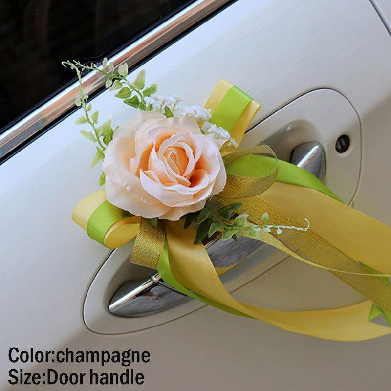 Best Promo b377 , Wedding Car Decoration Flower Door