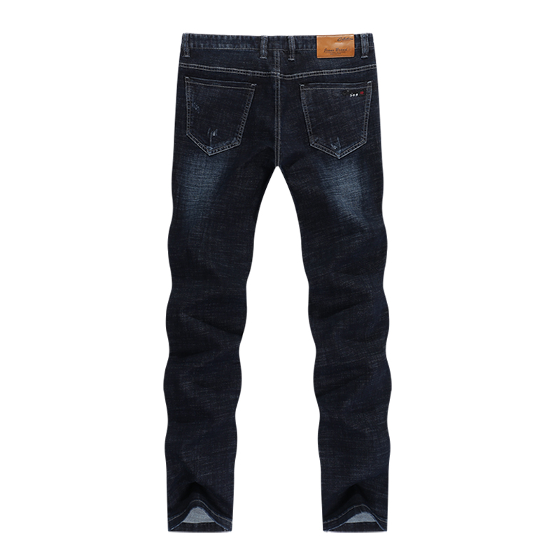KSTUN Classic Jeans Men in Winter Navy Blue Elastic Straight Regular Fit Business Casual Denim Pants Long Trousers Men's Clothing Jean 12