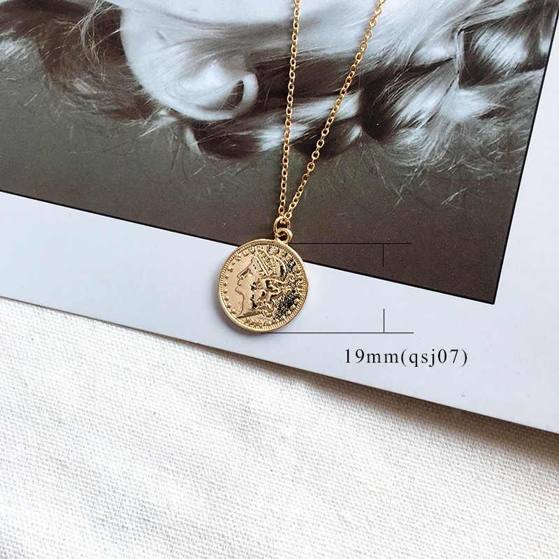 MEIBEADS Vintage แกะสลักทองเหรียญโรมันสร้อยคอจี้ Bohemian สร้อยคอเครื่องประดับ Boho Choker สร้อยคอ