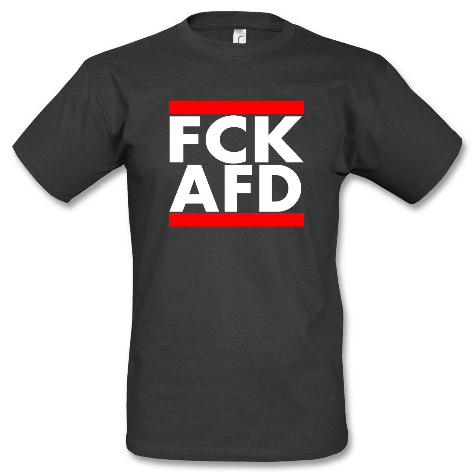 T-Shirt FCK AFD FUCK AFD GEGEN NAZIS ANTI AFD
