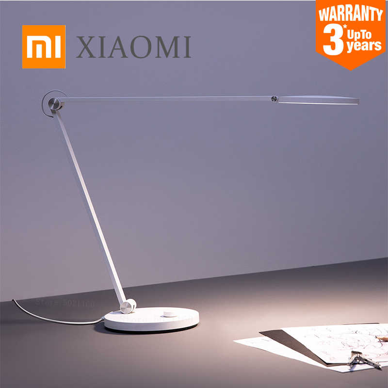 Xiaomi Mijia Mi Lampu Meja Pro LED Smart Membaca Lampu Meja Bending Lipat Bedside Night Light Kantor Mahasiswa Table Light mihome Aplikasi