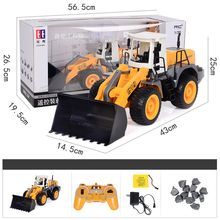 1:20 2.4G Remote Control Car Eight-Channel Forklift RC Bulldozer Simulation Engineering Toy