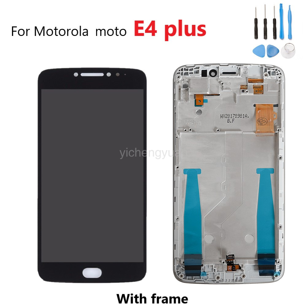 Original For Motorola <font><b>Moto</b></font> <font><b>E4</b></font> <font><b>Plus</b></font> <font><b>Display</b></font> LCD Touch Screen Frame Digitizer For <font><b>MOTO</b></font> <font><b>E4</b></font> <font><b>Plus</b></font> <font><b>XT1770</b></font> XT1773 XT1771 XT1772 LCD image