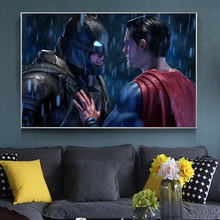 Comic Batman Vs Superman Movie Posters And Prints Canvas Art Painting On Wall Art Picture For Modern Home Decor Living Room 2pic set paris city landmarks and cars modern painting hd prints on canvas wall art for living room canvas printings home decor