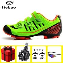 цена на Tiebao Cycling shoes sapatilha ciclismo mtb SPD pedal set Mountain Bike Sneakers men chaussure vtt Bicycle Zapatos Ciclismo