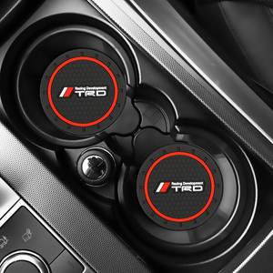 Подстаканник с логотипом автомобиля, 2 шт., силиконовые подставки для Toyota TRD Nissan Nismo Honda Mazda MS