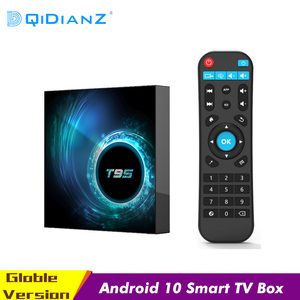 Caixa de tv inteligente android 10 t95 6k h616 quad core media player play store livre caixa de tv inteligente rápido pk h96 max conjunto caixa superior
