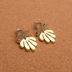 Image 4 - Amorita boutique Leaf designs stylish metal drop earrings