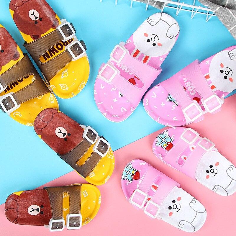 Summer Children's Slippers Girls Beach Sandals Baby Slippers Boys Sandals Children Color Matching Home Soft Bottom Casual Shoes