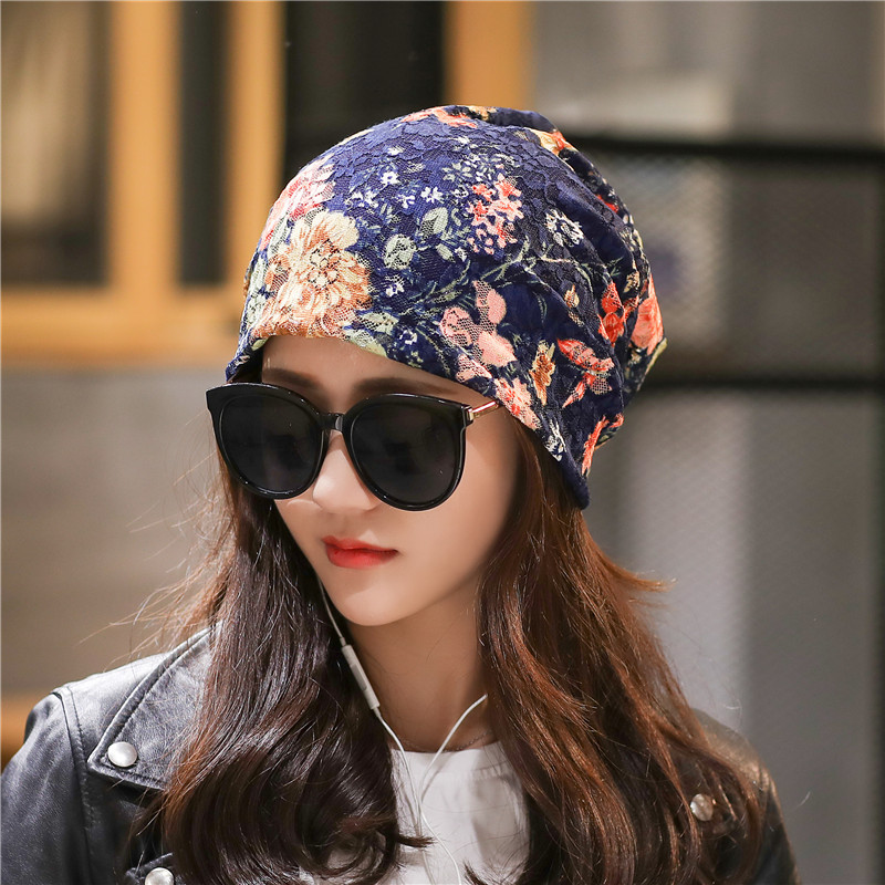 Women Clothing Accessories Lace   Skullies     Beanies   Flower Hat for Winter Autum Gift