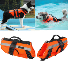 Dogs Swimming Clothes Ripstop Safety Pets Life Vest Superior Buoyancy Dogs Jacket with Rescue Handle Pet Dog Life-Saving Clothes