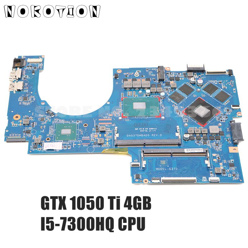 NOKOTION For HP Pavilion 17-AB 17-W series Laptop motherboard 915468-601 915468-001 DAG37DMBAD0 GTX 1050 Ti 4GB I5-7300HQ DDR4 image