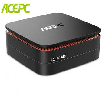 AK1 Windows10 Mini pc Intel Celeron Apollo Lake J3455 8GB DDR3L RAM 128GB SSD BT 4.2 Office HDMI WiFi4K USB3.0 Mini Desktop