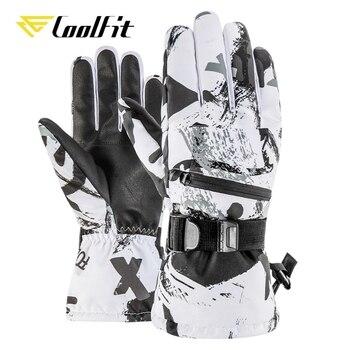 Мужские и женские лыжные перчатки CoolFit, Сверхлегкие Водонепроницаемые зимние теплые перчатки, перчатки для сноуборда, мотоциклетные водоне...