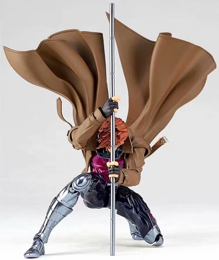 17cm Avengers Marvel X-men Gambit Remy Etienne LeBeau NO.012 Action Figure PVC Toys Collection Doll Anime Cartoon Model