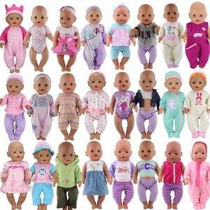 15 шт./компл., модная одежда, подходит для 43 см, куклы для новорожденных, 17 дюймов