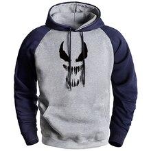 Marvel Superhero Men's Winter Fleece Hoodies Vemon Raglan Sweatshirts 2020 Autumn Hot Sell Loose Casual Streetwear Hoodie