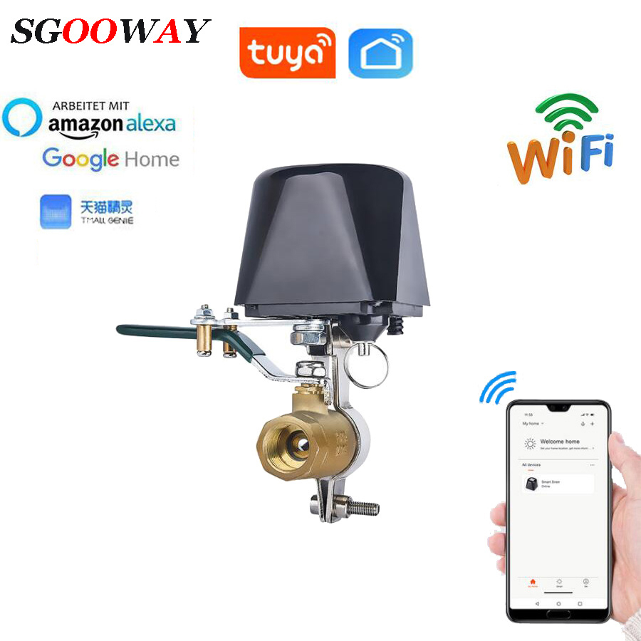 Tuya Smart WiFi Water Valve Gas Valve Compatible with Alexa Google Home Shut Off Controller