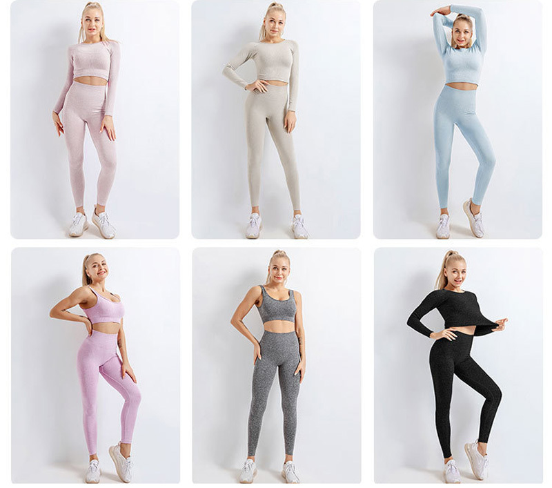Женский спортивный комплект бесшовный для йоги фитнеса женщин