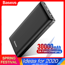 Baseus 30000mAh Power Bank USB C Fast 30000 mAh Powerbank For Xiaomi iPhone Samsung Portable