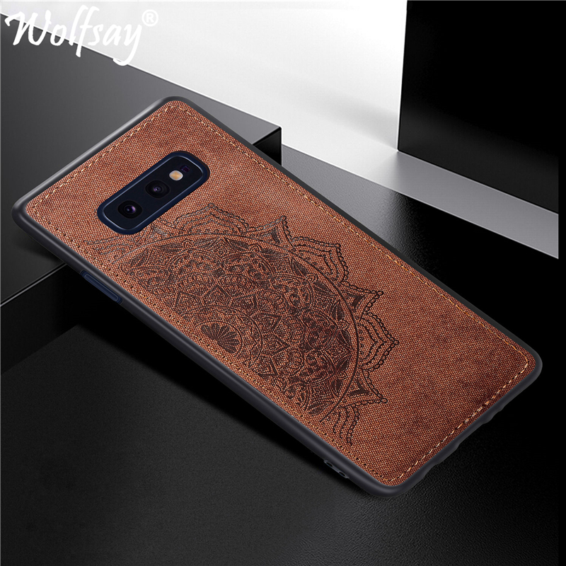 For Samsung Galaxy S10E Case on for Samsung S10E Cover sFor Coque Samsung Galaxy S10E Bumper Painted 3D Embossing Back Cover