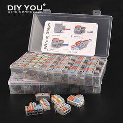 Мини-тип в коробке 2/3 pin быстроразъемный проводной разъем универсальный компактный клеммный блок маленький светодиодный светильник раздел...