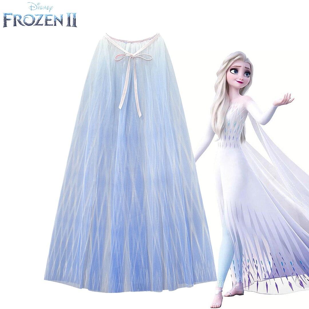 Шелковая накидка Frozen2 для принцессы, косплей, платье Aisha, накидка, длинное Сетчатое платье для девочки, на день рождения, лучший подарок