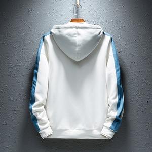 Image 2 - SingleRoad Mens Hoodies Men 2019 Side Stripe Hip Hop Harajuku Japanese Streetwear Man Sweatshirts Male White Hoodie Sweatshirt