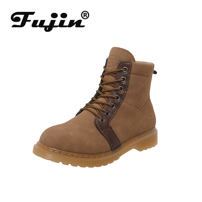 Fujin Warm-Boots Shoes-Work Women Winter Female Fashion Ladies Ankle Cross-Tied for Safety