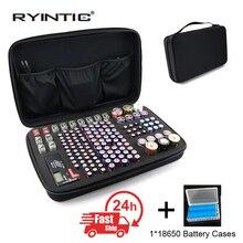 Caja de almacenamiento portátil para cargador de batería, bolsa de almacenamiento para pilas Aa Aaa N ° 5 N ° 7 9V N ° 1 N ° 2, bolsa de almacenamiento de batería a prueba de golpes